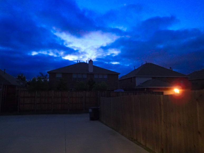 Pre-sunrise around 6a when I left for the ride.