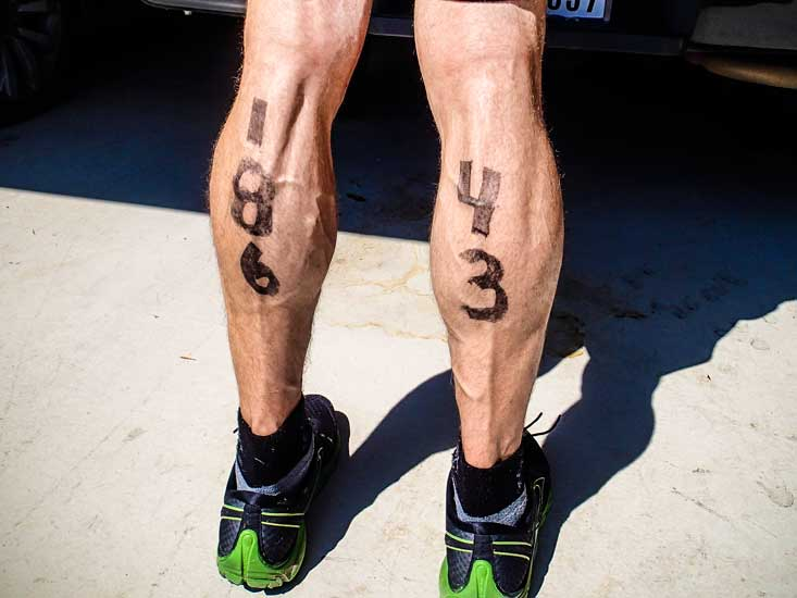 Hard to hide your age at a tri.