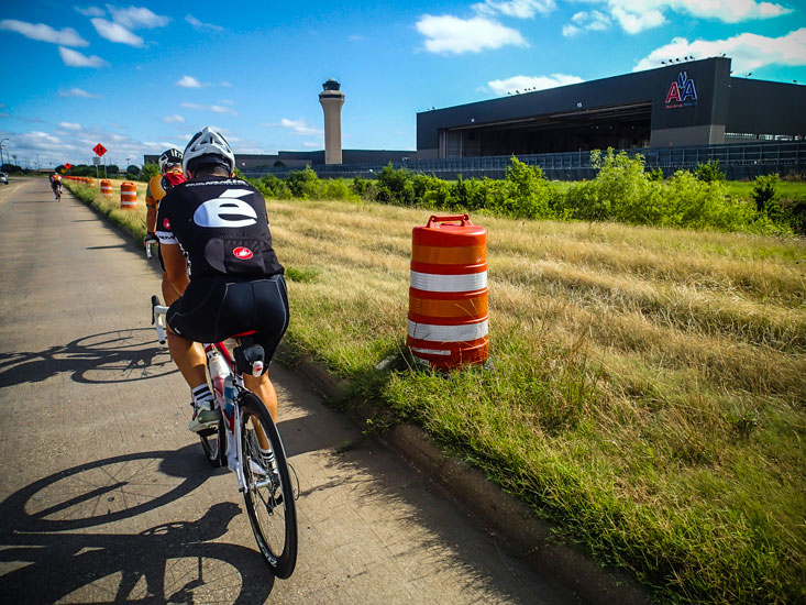We rode past the American Airlines maintenance hangar. Note control tower.