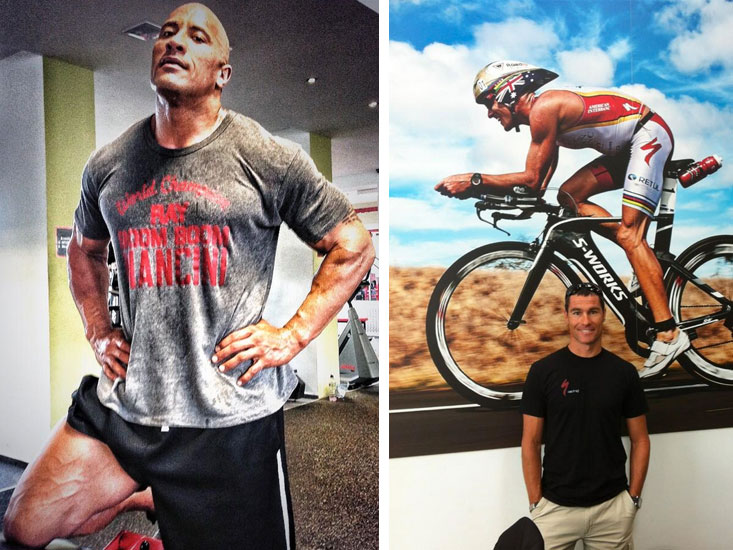 D. Johnson, left, photo c/o Twitter (@therock). C. Alexander, right, photo c/o Twitter (@crowiealexander).