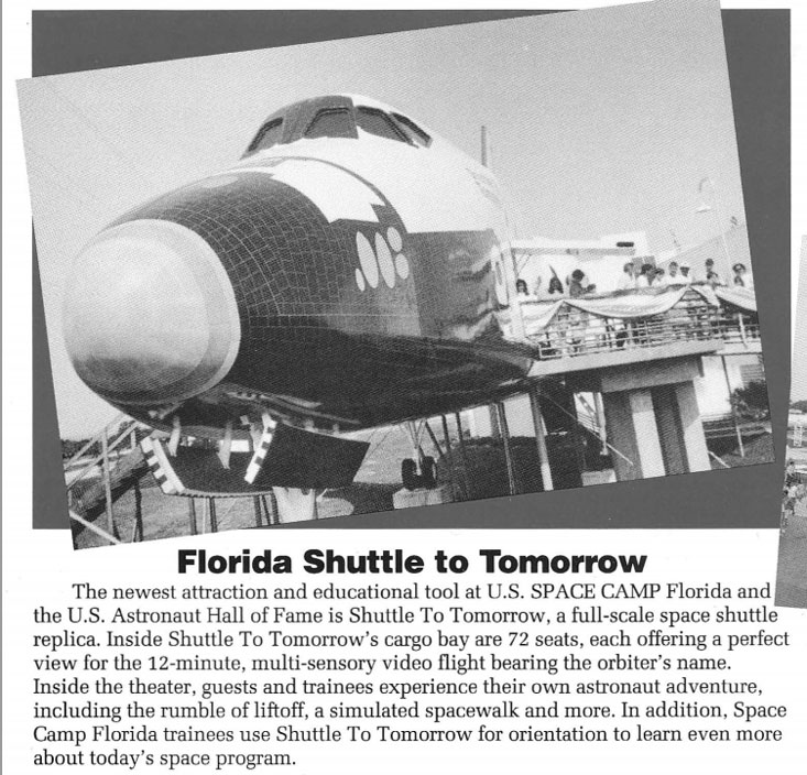 """We called it the """"Shuttle to Nowhere"""" since it didn't move and the tourists first questions was """"is it real?"""""""