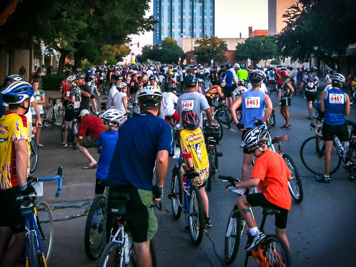 Waiting for the HHH start in 2010. Getting ready to roll with over 10,000 other is a unique experience.