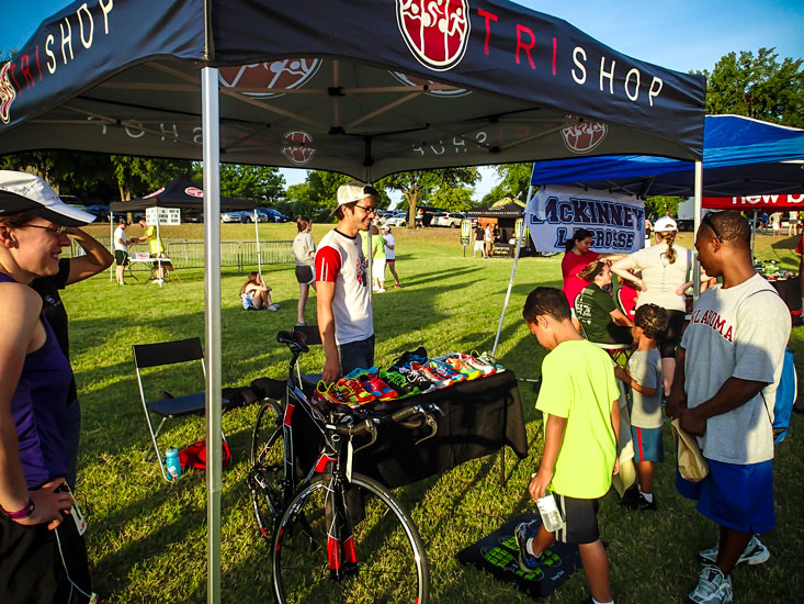 Our Tri Shop friends were there, as they are at pretty much every event in North Texas.