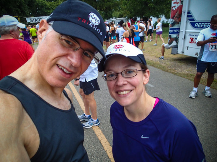 Audra and me, ready to race.