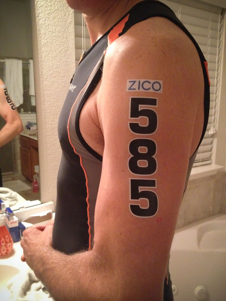 Bonus: instead of scrawling numbers on us w/a marker, we got these cool temporary tattoos.